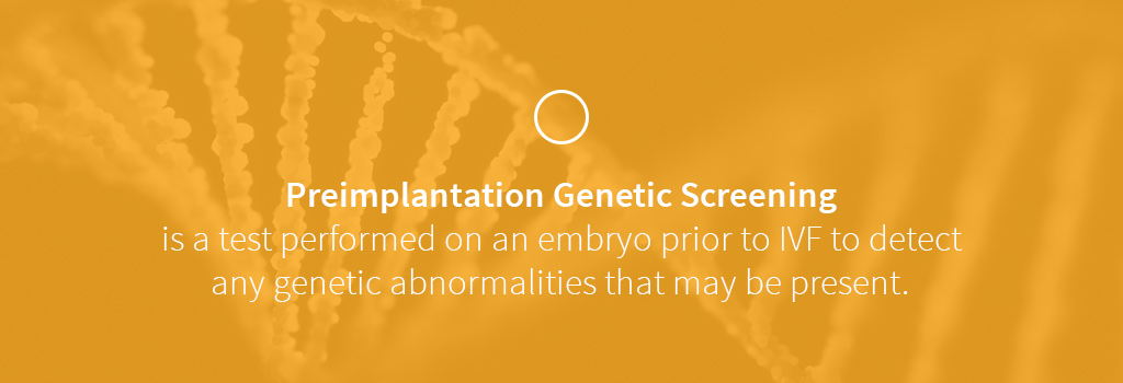 what is preimplantation genetic screening