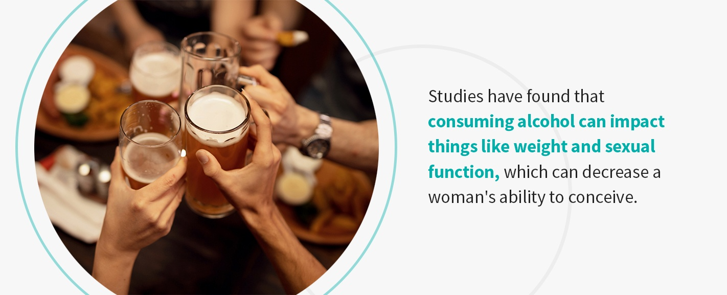 how does drinking affect fertility in women